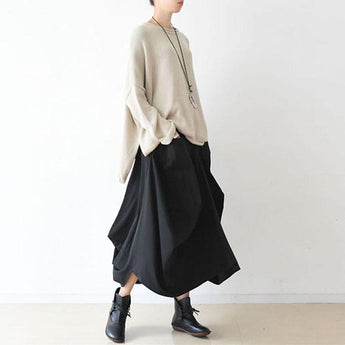 Spring Women's Loose Drawstring Irregular Skirt May 2021 New-Arrival