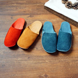 Suede Leather Slippers