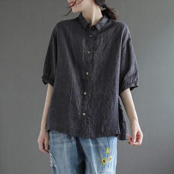 Summer Literaty Retro Casual Loose Shirt May 2021 New-Arrival