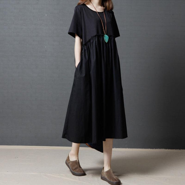 Summer Loose Fashion Stitching Dress May 2021 New-Arrival