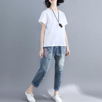 Summer Plus Size Casual Denim Pants May 2021 New-Arrival