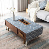 Tablecloth Waterproof Oil-proof Living Room Accessories ACCESSORIES 40*60 Blue