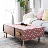 Tablecloth Waterproof Oil-proof Living Room Accessories ACCESSORIES 40*60 Pink