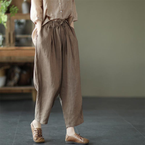 Women Elastic Waist Loose Casual Pants May 2021 New-Arrival