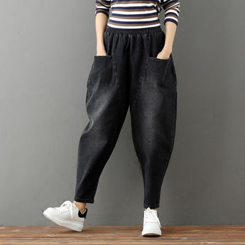 Women's Loose Large Size Jeans May 2021 New-Arrival M