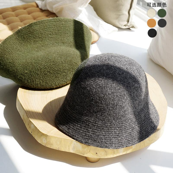 Wool Hat Autumn And Winter All-Match September 2020 new arrival dark gray