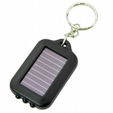 Solar-powered LED Flashlight w/ Keychain