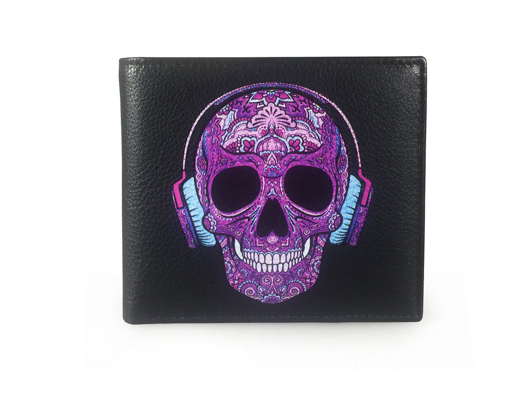 Purple Candy Skull DJ
