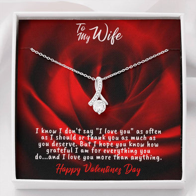 Happy Valentine's Day To My Wife Necklace - Alluring Beauty