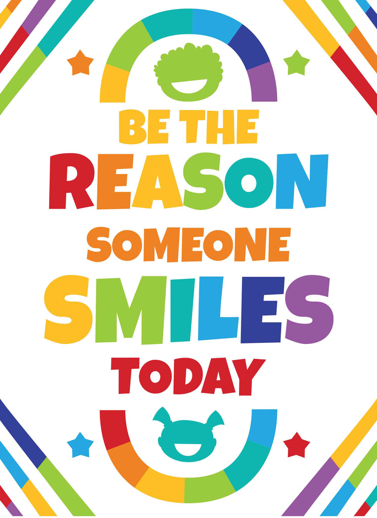 Be the reason someone smiles today - Print Your Own Posters Printable Digital Library Sproutbrite