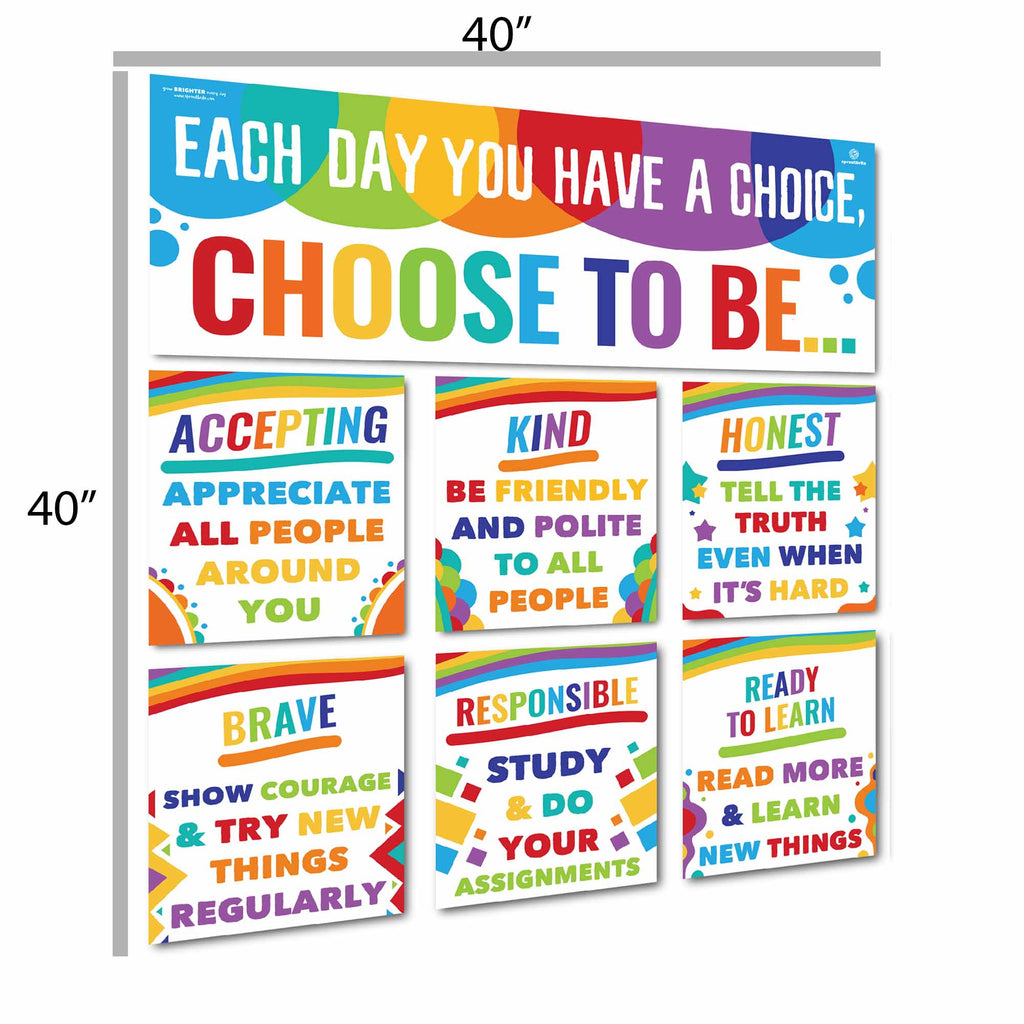 Choose to be Display Classroom Decorations Sproutbrite