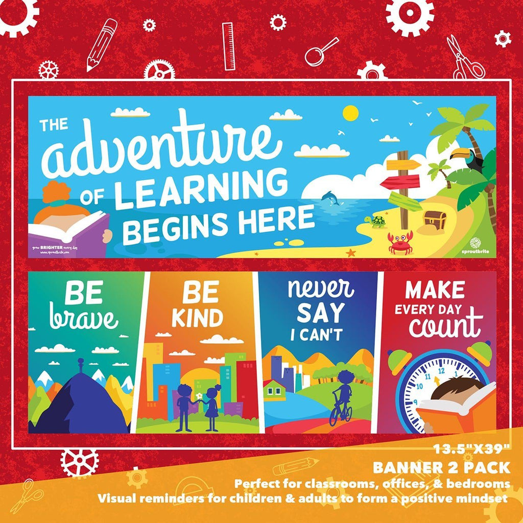 Classroom Adventure Learning Banner Set Classroom Decorations Sproutbrite