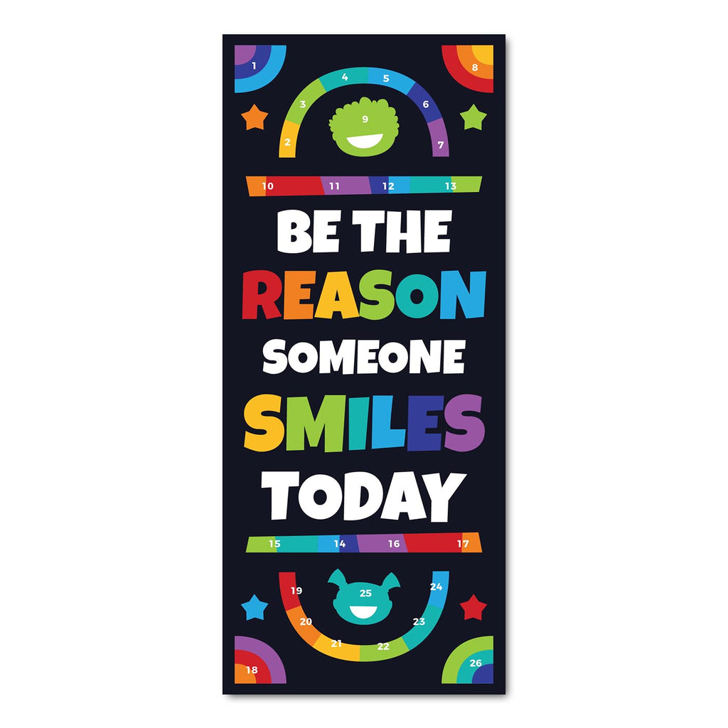 Classroom Door Decoration Kit - Be the Reason Someone Smiles Today Printable Digital Library Sproutbrite