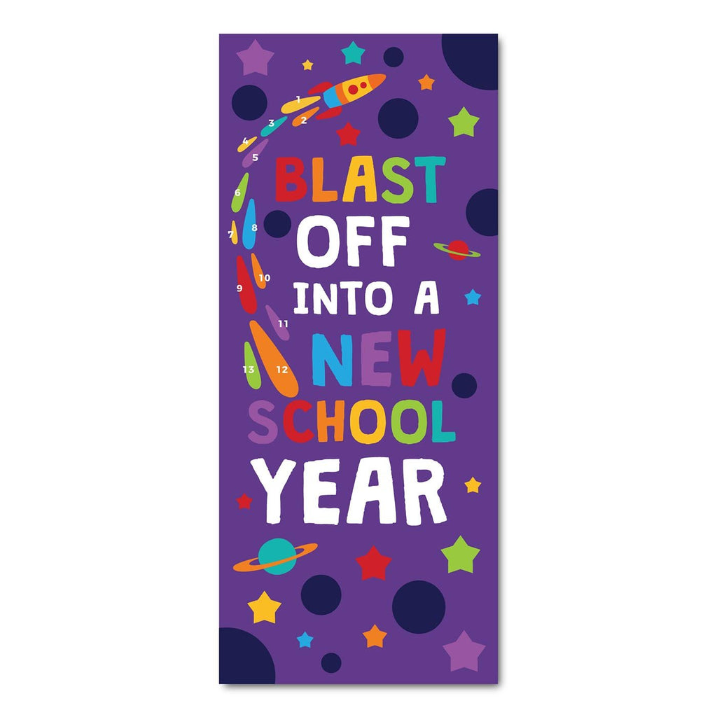 Classroom Door Decoration Kit - Blast Off into a New Year Printable Digital Library Sproutbrite