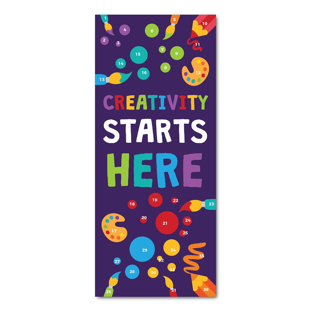 Classroom Door Decoration Kit - Creativity Starts Here Printable Digital Library Sproutbrite