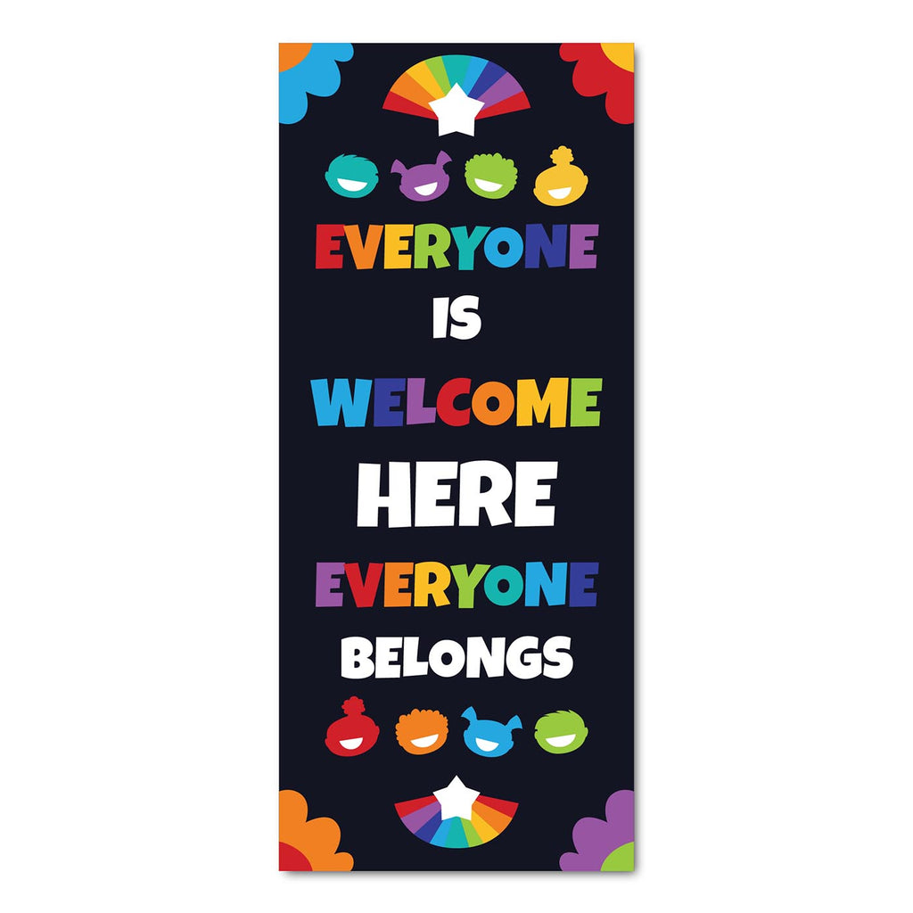 Classroom Door Decoration Kit - Everyone is Welcome Here Everyone Belongs Printable Digital Library Sproutbrite
