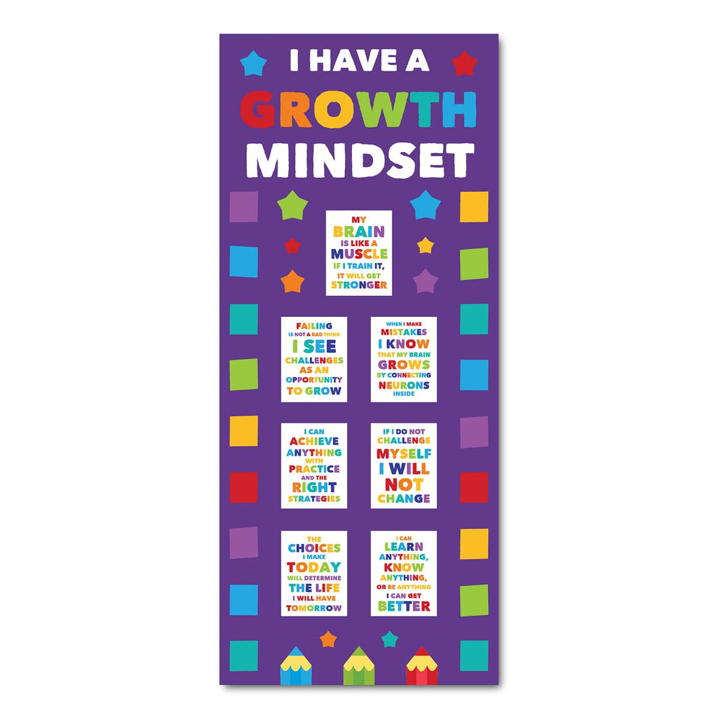 Classroom Door Decoration Kit - Growth Mindset Printable Digital Library Sproutbrite
