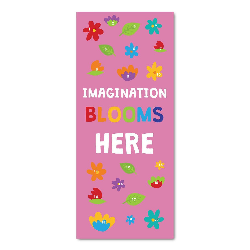 Classroom Door Decoration Kit - Imagination Blooms Here Printable Digital Library Sproutbrite