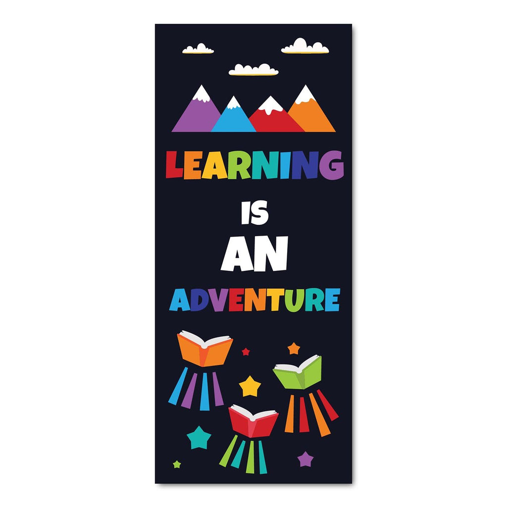 Classroom Door Decoration Kit - Learning is an Adventure Printable Digital Library Sproutbrite