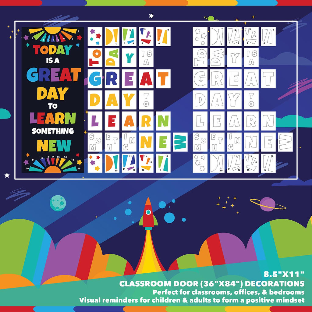 Classroom Door Decoration Kit - Today is a Great Day to Learn Something New Printable Digital Library Sproutbrite