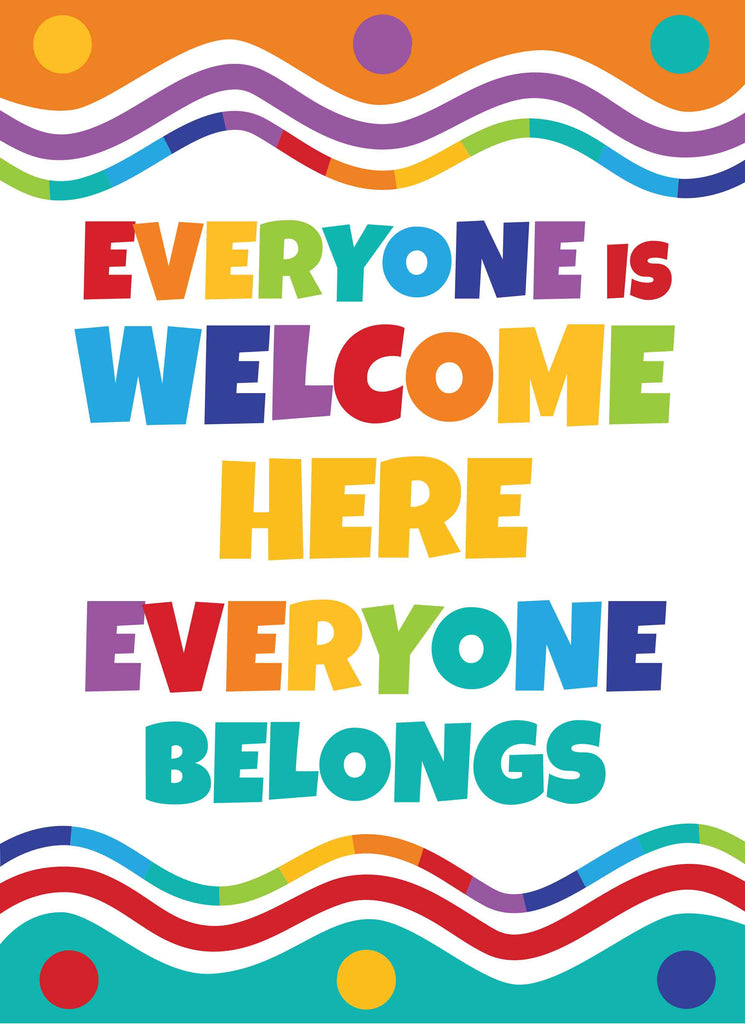 Everyone is Welcome Here Everyone Belongs - Print Your Own Posters Printable Digital Library Sproutbrite