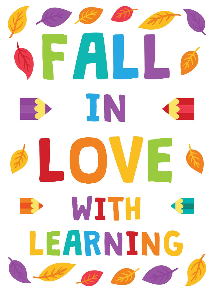 Fall in Love With Learning - Print Your Own Posters Printable Digital Library Sproutbrite