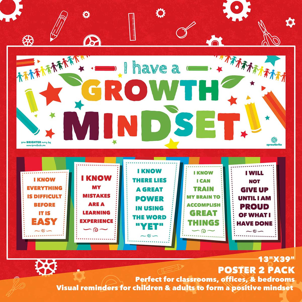 Growth Mindset Banner Pack Classroom Decorations Sproutbrite