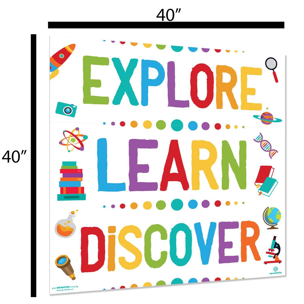 Growth Mindset Explore Learn Discover Banner Pack Classroom Decorations Sproutbrite