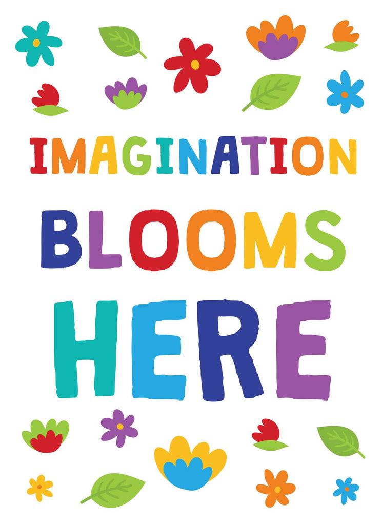 Imagination Blooms Here - Print Your Own Posters Printable Digital Library Sproutbrite