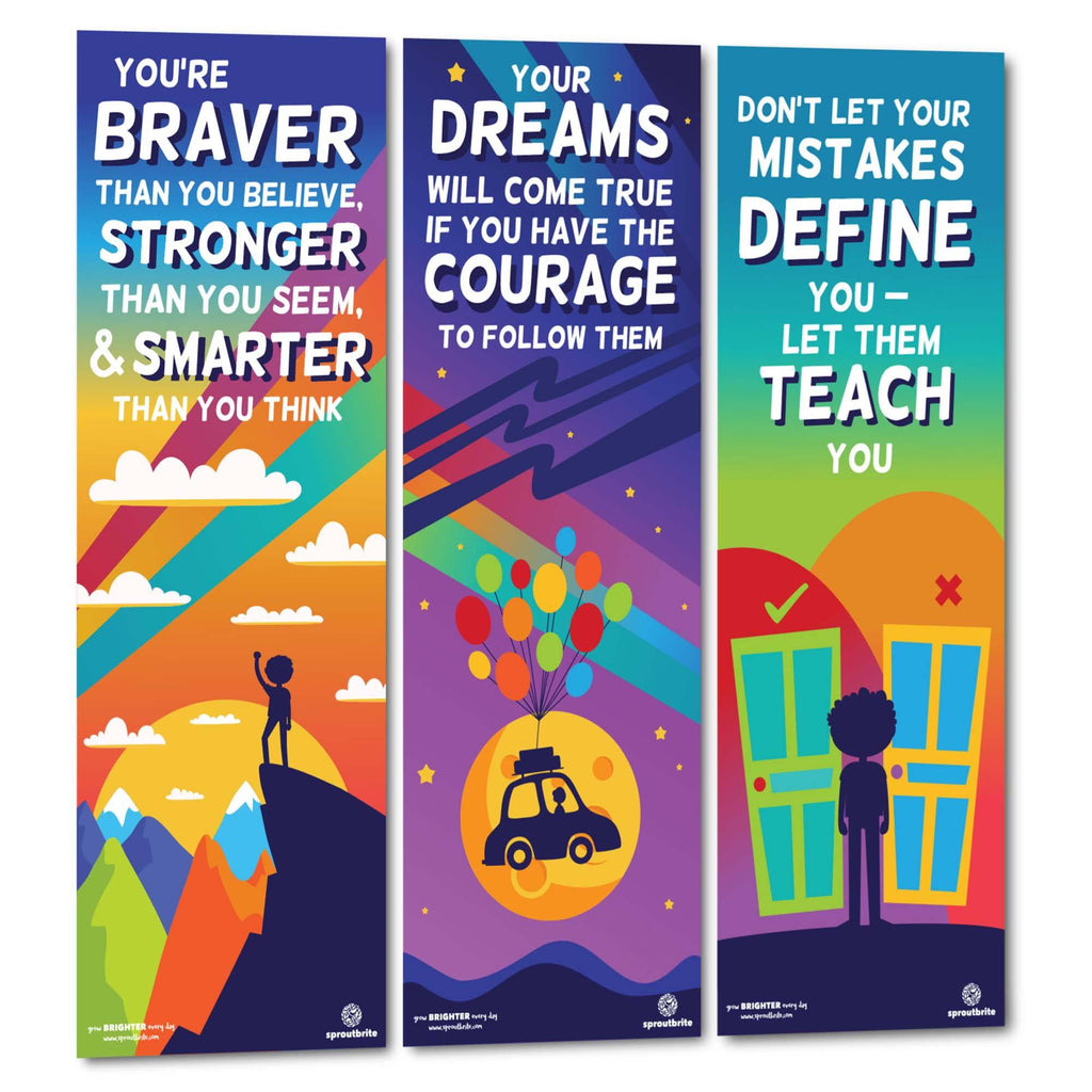 Inspirational Vertical Banner Pack 2 Classroom Decorations Sproutbrite