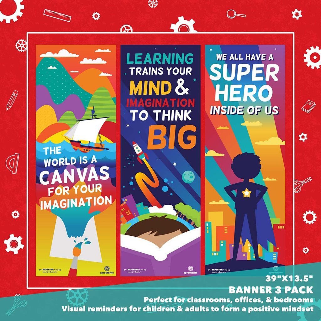 Inspirational Vertical Banner Pack Classroom Decorations Sproutbrite