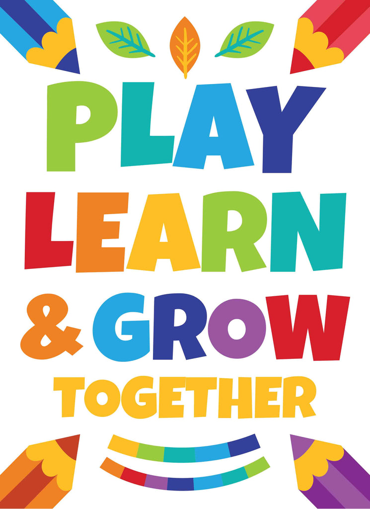 Play Learn & Grow Together - Print Your Own Posters Printable Digital Library Sproutbrite