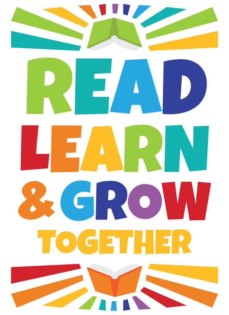 Read Learn & Grow Together - Print Your Own Posters Printable Digital Library Sproutbrite