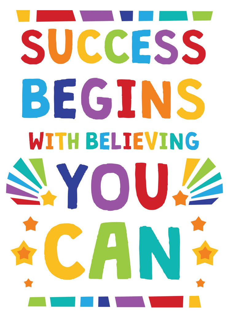 Success Begins with Believing You Can - Print Your Own Posters Printable Digital Library Sproutbrite