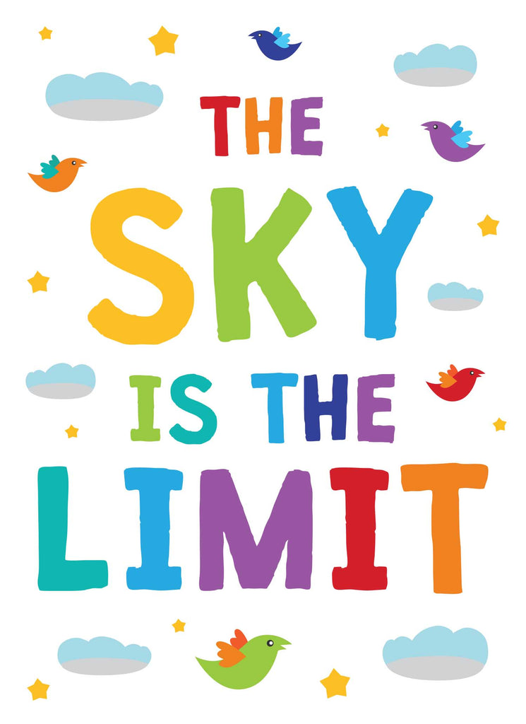 The Sky is the Limit - Print Your Own Posters Printable Digital Library Sproutbrite