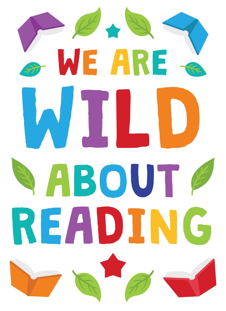 We are Wild About Reading - Print Your Own Posters Printable Digital Library Sproutbrite
