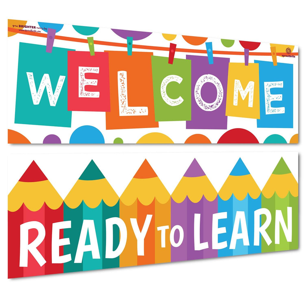 Welcome Banner - Ready to Learn Classroom Decorations Sproutbrite