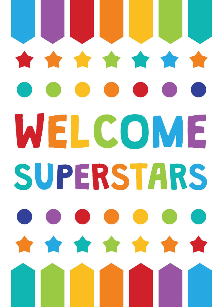 Welcome Superstars - Print Your Own Posters Printable Digital Library Sproutbrite