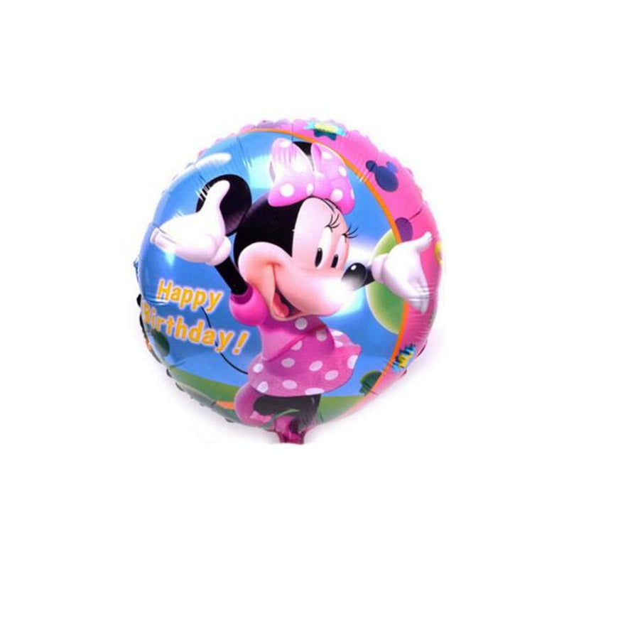 Minnie Mouse Happy Birthday Balloons
