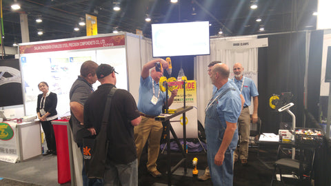 Demoing the Dimide Clamp at Fabtech 2016