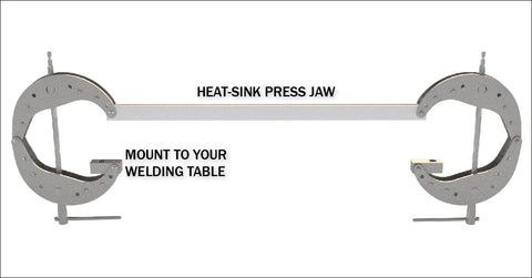 DIMIDE 1/4 Series Heat Sink Press Jaw