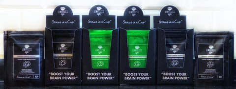 Limitless Life Instant Genius Coffee & Matcha Tea with a enhance with Nootropic Blend to promote Brain Health