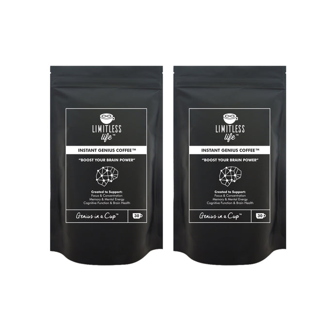 Limitless Life Instant Genius Coffee 90g (2 Pack Bundle)