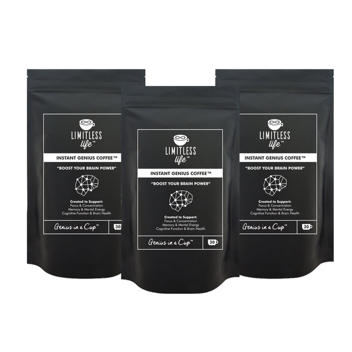Limitless Life Instant Genius Coffee 90g (3 Pack Bundle)