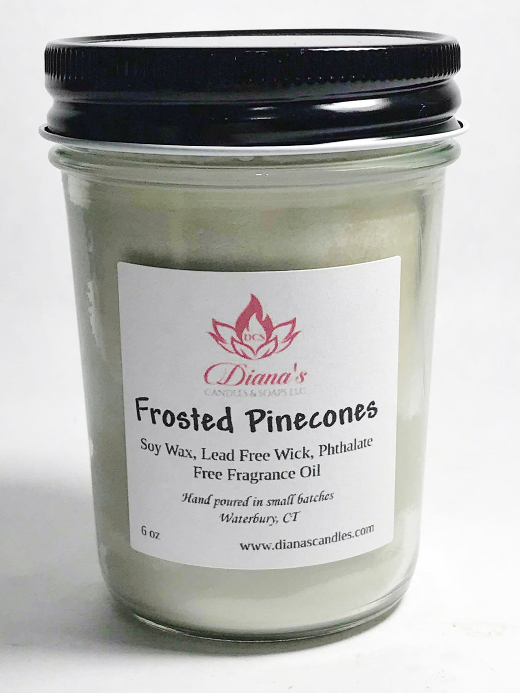 Frosted Pinecones Jelly Jar Candle