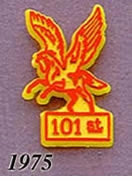 1975 Pegasus Pin - 101st/Red on Yellow Plastic