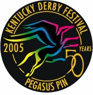 2005 Pegasus Pin - 5 Designs to choose from Multi-Colored Imprint on Black Plastic