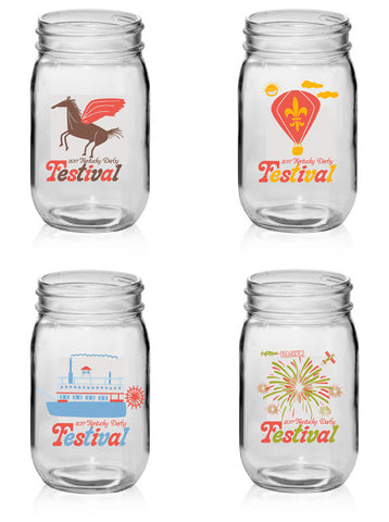 2017 KDF Mason Jars - Set of 4