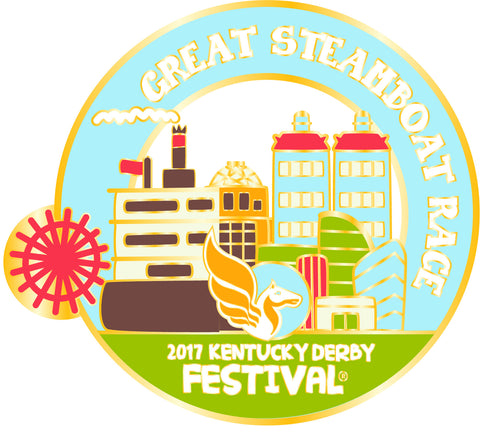 2017 KDF Great Steamboat Race Event Pin