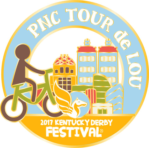 2017 KDF Tour de Lou Event Pin